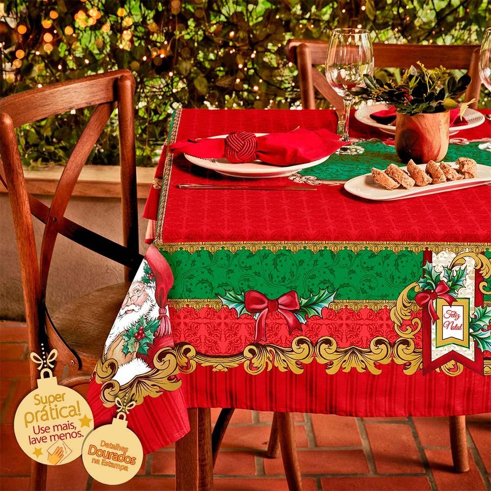 toalha de mesa lepper natal com alegria de natal