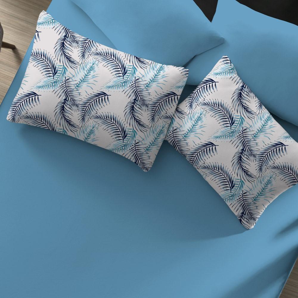 jogo de cama palmeiras azul zoom